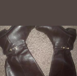 COACH Caroline Chestnut Brown Tall Riding Boots